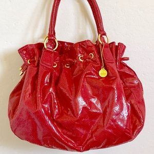 Big Buddha red faux snakeskin shoulder bag NWOT